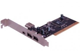 PCI 3+1 Port Firewire Card (1394A)
