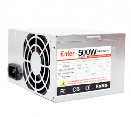 Computer Power Supply 500w Model No. E-500B