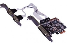 PCI-E To 2 Serial ( RS -232 ) & 1 Parallel Port Card