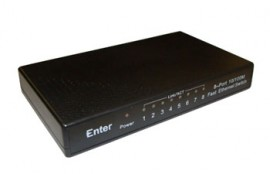 8 Port 10/100 Switch Model No: E-S8P